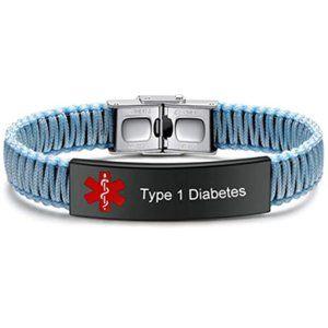 Diabetes Medical Alert ID Bracelet for Women
